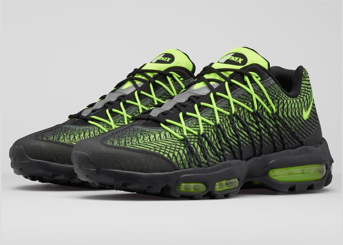 air max 95 noir et vert fluo