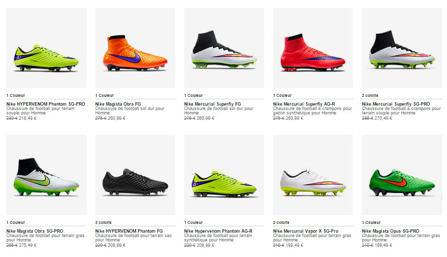 chaussure nike foot homme